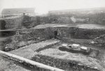 Archaeological research of the acropolis has been in progress since 1924. The picture from 1927 shows the research of the area of the royal residence with the exposed walls of one of the Gothic palace buildings. © Archiv hl. of Prague, Collection of photos, sign. I_9681.