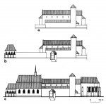 Reconstruction of the presumed form of the Church of St. Peter and Paul during the last Přemyslids and before the Hussite Revolution (according to F. Kašička 2007).