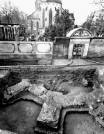 Gothic choir of basilica of St. Peter and Paul uncovered by archaeological excavation in 1968. Photo A. Klaibl (Nechvátal 2004).
