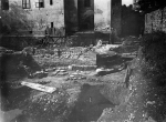 The remains of the southern apse of the central church (tri-concha) under the exposed part of the southern nave of the basilica in the 1920s.