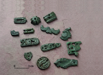 A collection of so-called Avar fittings obtained by systematic detector prospecting in 2015. Photo Z. Kačerová.