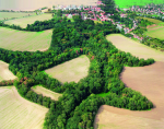 Aerial shot of a hillfort. Photo by M. Gojda, ARUP.