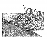 The construction of the younger rampart from the middle of the 5th century BC (Drda - Rybová 2008).