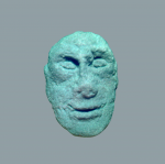 A sandstone male head from the 5th century BC, secondarily located in the oppida gate from the 2nd century BC (Drda - Rybová 2008).